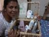 Renata, ganhadora de uma das cestas sorteadas